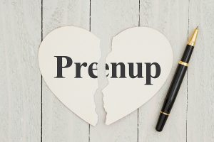 Writing up your prenuptial agreement